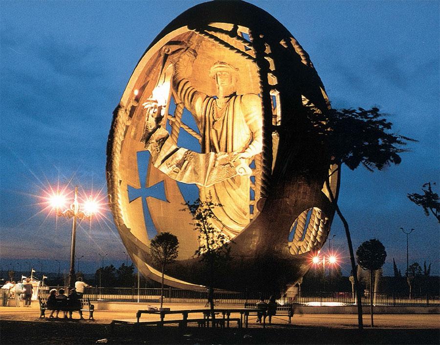 "ZURAB TSERETELI. Monumental composition ""The Birth of a New Man"""