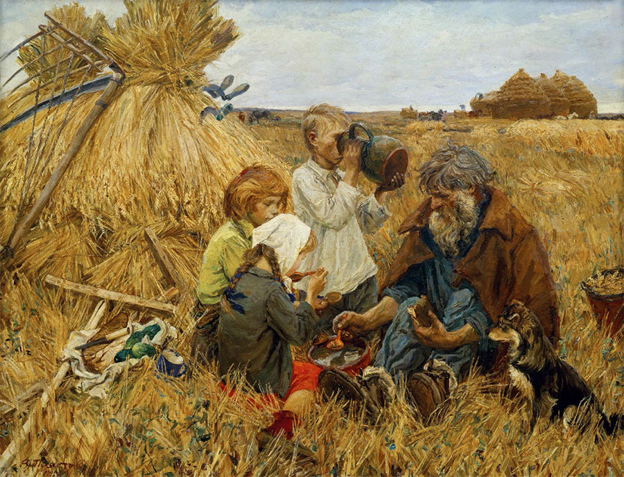 АRKADY PLASTOV. Harvesting. 1945