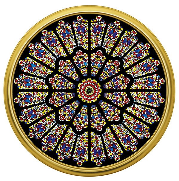 Дэмиен Хёрст. The Rose Window, Durham Cathedral, 2008