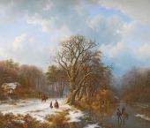 Баренд Куккук. Зимний пейзаж. 1837