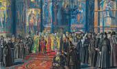Эскиз картины «Русь уходящая». 1935–1959