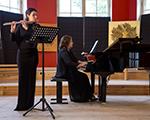 Музыкальный концерт на выставке Светланы Ланшаковой «Марина Цветаева - 125» в Тарусе