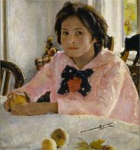 Девочка с персиками. Кто она?