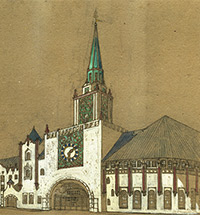 «Ворота на Восток». Конкурсный проект вокзала А.В. Щусева 1911 год