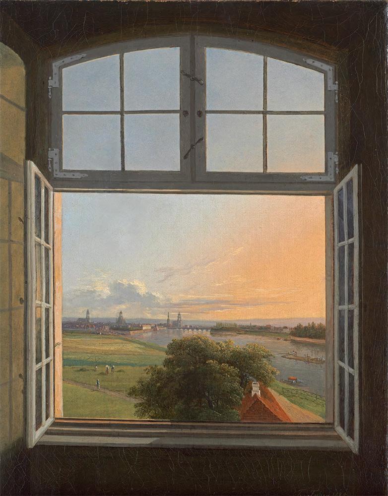 KARL GOTTFRIED TRAUGOTT FABER. A View of Dresden. 1824