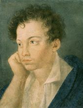 UNKNOWN ARTIST. Pushkin as a Student at the Lyceum. Mid 1810s