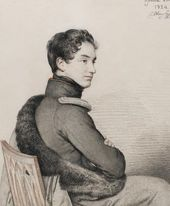 OREST KIPRENSKY. Portrait of Sergey Buturlin. 1824