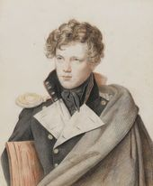OREST KIPRENSKY. Portrait of Yegor Komarovsky. 1823–1827