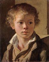 VASILY TROPININ. Portrait of the Artist's Son Arseny Tropinin. About 1818