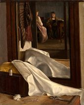 UNKNOWN ARTIST. Reflection in the Mirror. Second quarter of the 19th century
