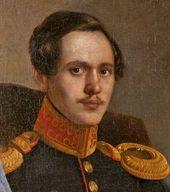 UNKNOWN ARTIST. Portrait of Mikhail Lermontov. 1838-1839. Detail
