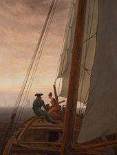 CASPAR DAVID FRIEDRICH. On a Sailing Ship. Between 1818 and 1820