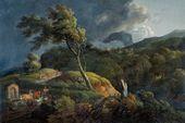 JOHANN CHRISTIAN KLENGEL. Landscape in a Storm. About 1820