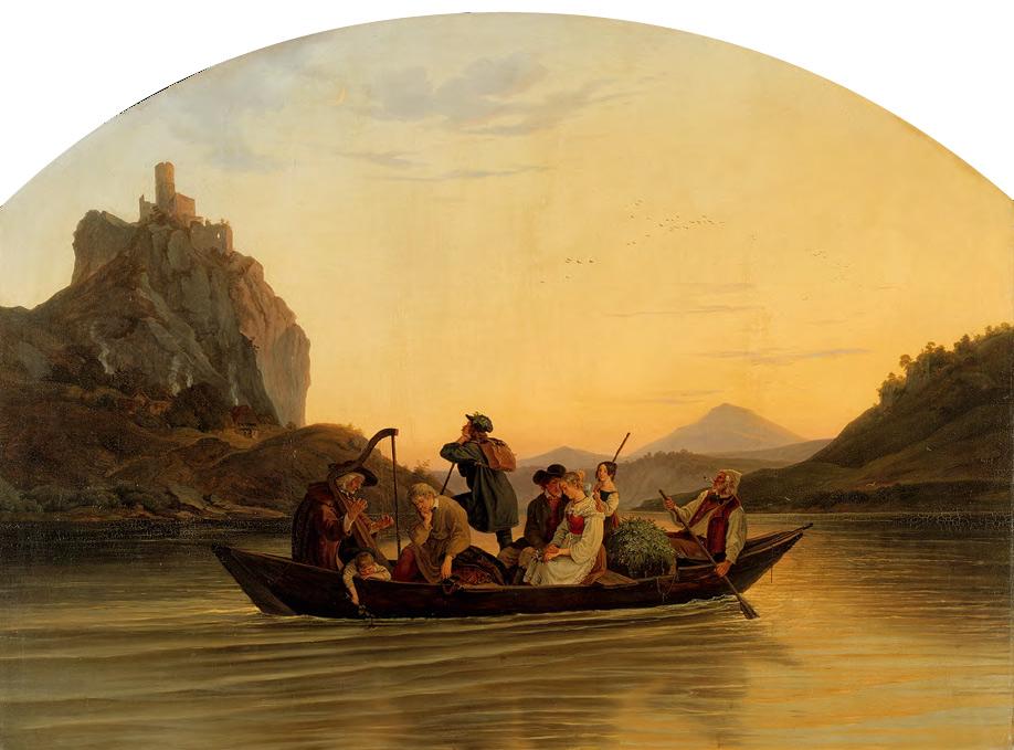 ADRIAN LUDWIG RICHTER. Crossing at Schreckenstein. 1837