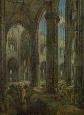 CARL BLECHEN. Gothic Church Ruins. 1826
