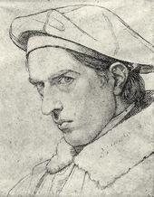 JOHANN FRIEDRICH OVERBECK. Self-portrait. 1844