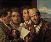 OREST KIPRENSKY. Newspaper Readers in Naples. 1831