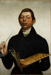 DMITRY CHARUSHIN. Self-portrait with a Palette. 1837