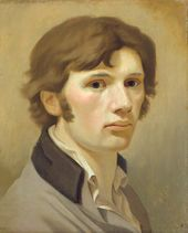 PHILIPP OTTO RUNGE. Self-portrait with Brown Collar. About 1802