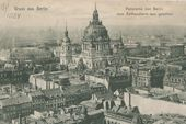 All-round view of Berlin. Postcard. Early 20th century