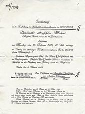 Invitation to the exhibition opening in Berlin. February 1929