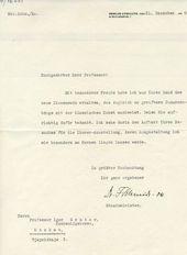 A letter of Friedrich Schmidt-Ott to Igor Grabar. December 21, 1928