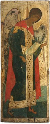 Michael the Archangel from the Deesis tier of the Dormition Cathedral in Vladimir. 1408