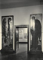 """Entrance to the """"Russian Icons"""" exhibition Hamburg. April 13-29, 1929"""
