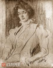 Bakst Léon. Portrait of Zinaida Gippius