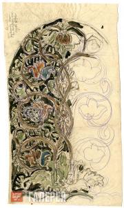 Щусев Алексей. Эскиз мозаики надгробия А.И. Куинджи. 1913
