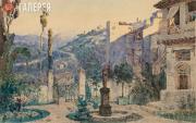 Polenov Vasily. Don Silva's garden in Cordoba. Act I. 1885