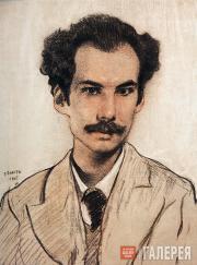 Bakst Léon. Portrait of Andrei Bely. 1905