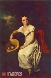 Tropinin Vasily. Portrait of the Dancer Tatyana Karpakova. 1828