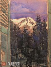 Yakunchikova Maria. Window into the Garden (View of Mont Blanc)
