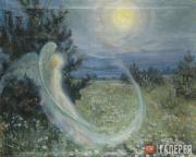 Якунчикова Мария. Восход луны с ангелом. Около 1895