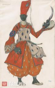 Bakst Léon. Costume Design for a Eunuch in Scheherazade. c. 1910