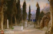 Polenov Vasily. Cemetery. Act I. 1897