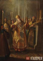 И.И. БЕЛЬСКИЙ. Архиерей во время служения литургии. 1760-е