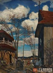 Ruszczyc Ferdynand. By the Church. 1899