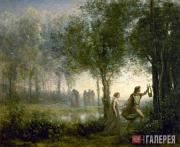 Corot Jean Baptist Camille. Orpheus Leading Eurydice from the Underworld. 1861
