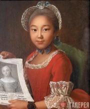 Ivan ARGUNOV. Portrait of a Kalmyk girl Annushka. 1767