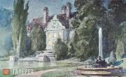 Polenov Vasily. Night. Garden. Fountain, stage design for a production of Pushki