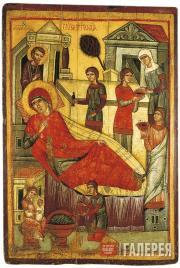 Неизвестный художник. Рождество Богоматери. Первая половина XIV в.