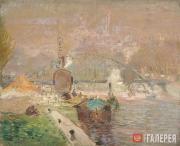 Kouznetzoff Constantin. View of Paris. Trocadéro. c. 1923-1925