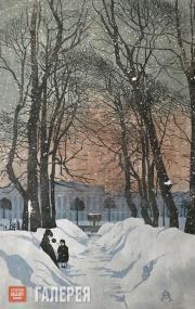 Ostroumova-Lebedeva Anna. St. Petersburg. The Summer Garden. 1902