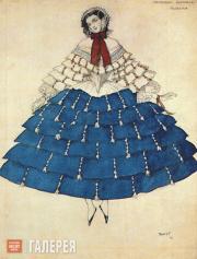 Бакст Леон. Эскиз костюма Киарины к балету «Карнавал». 1910