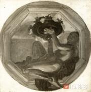 Добужинский Мстислав. Народы Востока: Малайзия (?). Эскиз панно для плафона рест