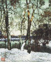 Горбатов Константин. Зимний закат. 1917
