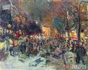 "Korovin Konstantin. A Boulevard in Paris. ""Parisian Nights"" series. 1912"