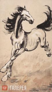 Xu Beihong. A Galloping Horse. 1951